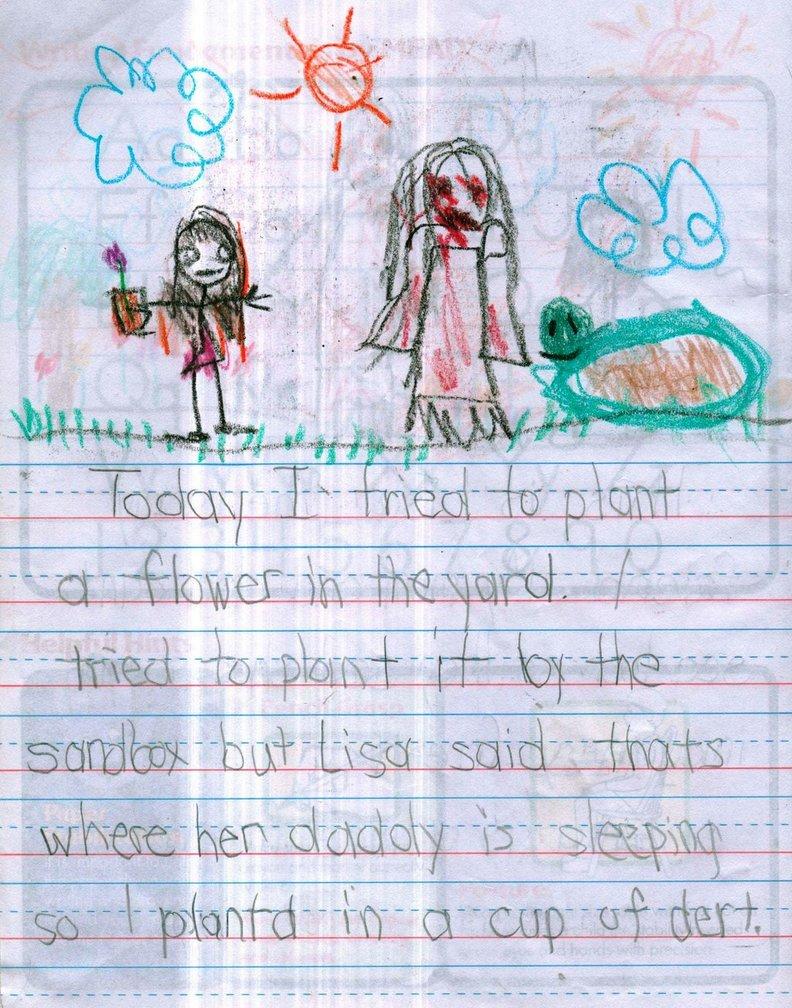 Les dessins dérangeants de ces petites filles de son amie imaginaire vous feront paniquer