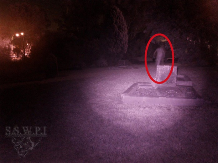 Ghost Photographed Running Away After Being Spotted In a Graveyard