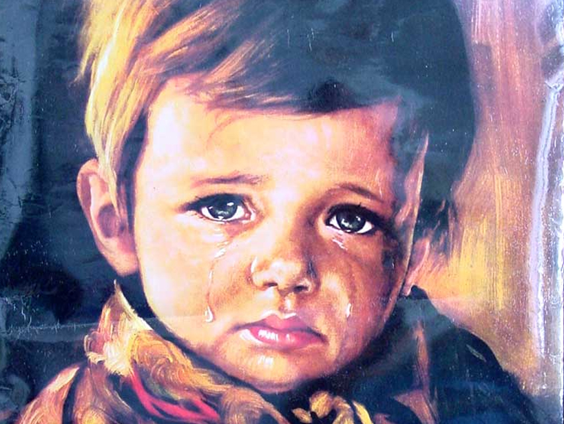 5 Haunted Paintings - The Crying Boy by Giovanni Bragolin