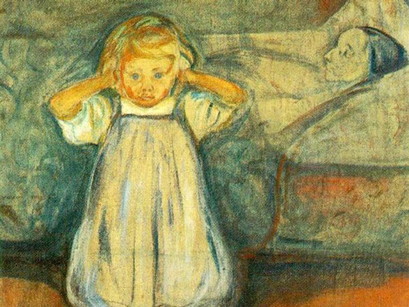 5 Haunted Paintings - The Dead Mother by Edvard Munch