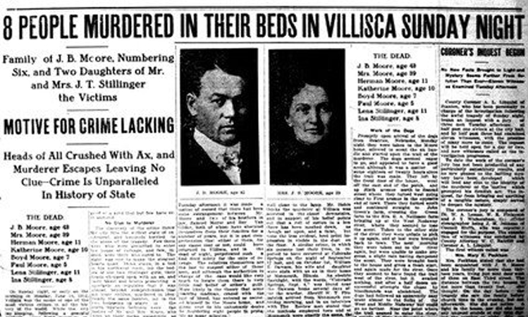 Newspaper story on the murder from 1912